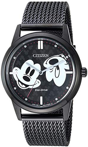 black ion-plated stainless steel case