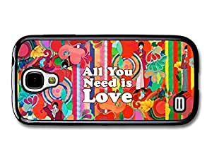 Travers-Diy Phone-fashion-case All You Need Is Love John Lennon The 2uHlWw05hhj Quote Illustration Background case cover for Samsung Galaxy S4 mini