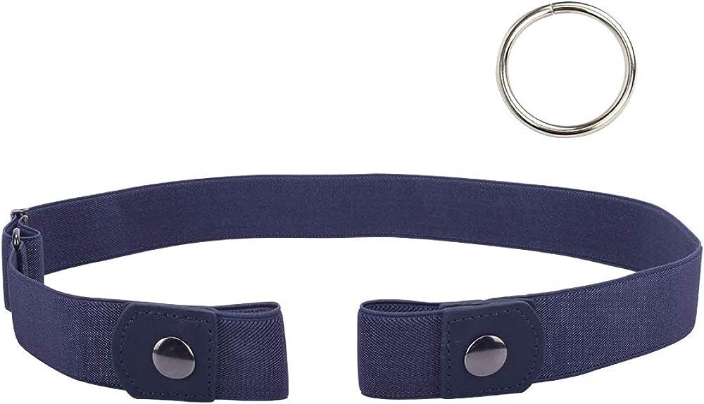 Lalacolorful Damen Mens Buckle-Free Belt Komfortable elastische G/ürtel Jeans Hosen unsichtbare Taille G/ürtel einstellbar