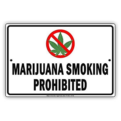 Amazon.com: Vintage Marijuana Smoking Prohibited No Smoking ...