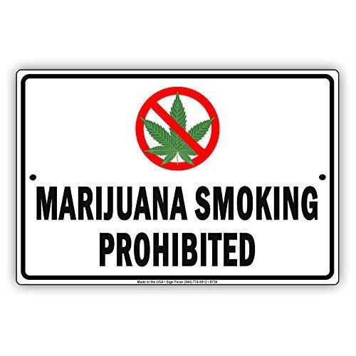 Monsety Vintage Marihuana Fumar Prohibido no Fumar Aviso ...