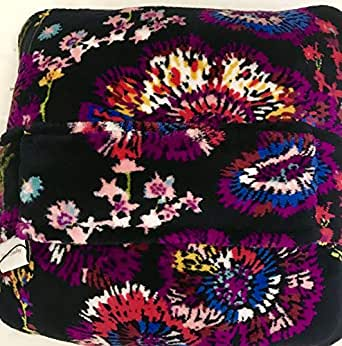 Amazon Com Vera Bradley Fleece Travel Blanket Midnight