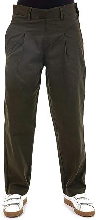 FANTAZIA - Pantaloni in pelle di pesca con pinze, taglia da S a