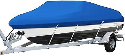 14 15 16 ft Trailerable Boat Cover V-hull Fish Ski Bass Waterproof Heavy Duty