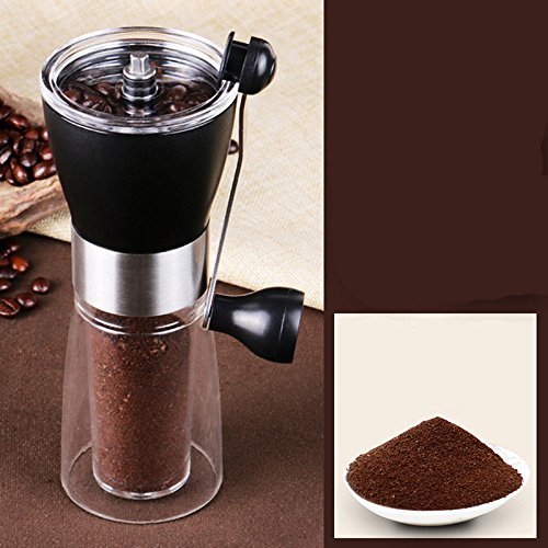NPLE--Portable Ceramic Burr Manual Coffee Grinder Hand Crank Bean Mill H M - Mills Dj Ray