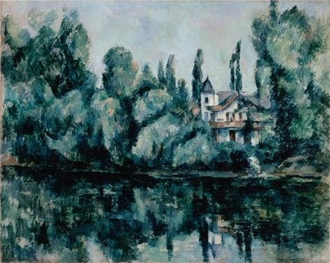 Oil Painting 'Villa On The Bank Of A River,1888 By Paul Cezanne' 20 x 25 inch / 51 x 64 cm , on High Definition HD canvas prints is for Gifts And Dining Room, Foyer And Home Office decor, panoramic