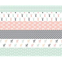 Woodland Fabric - Girl Woodland Wholecloth Pink/Grey/Mint by littlearrowdesign - Woodland Fabric with Spoonflower - Printed on Basic Cotton Ultra Fabric by the Yard