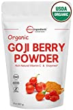 Cheap Highest Concentration Pure Organic Goji Berry Powder, Freeze-Dried, 8 Ounce, Natural Booster for Energy & Eye Health – Best Superfoods for Smoothie & Beverage Blend. Non-GMO and Vegan Friendly.