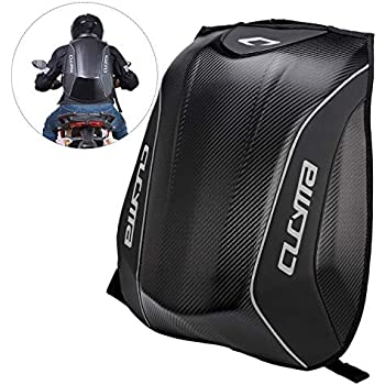 Amazon.com: Bulary Carbon Fiber Motorcycle Backpack Riding ...