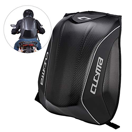 INNOGLOW Motorcycle Backpack 30L Hard Shell Air Flow Track Riding Back Pack Stealth No Drag Molded ()