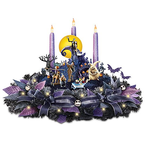 Disney Nightmare Before Christmas Floral Centerpiece with Lights and Music by The Bradford (Nightmare Before Christmas This Is Halloween Tabs)