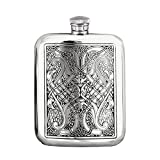 Premium Celtic Design Pewter Flask