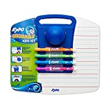 EXPO Washable Dry Erase Kids Set, Fine Point, 6-Piece with Board & Eraser, Assorted Colors