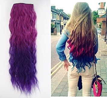 Amazon uniwigs ombre dip dye color clip in hair extension 55 uniwigs ombre dip dye color clip in hair extension 55 60cm length red to pmusecretfo Image collections