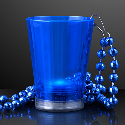 Blue Light Up Shot Glass on Party Bead