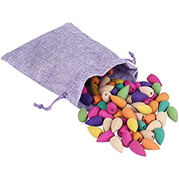 Backflow Incense Cones 100 Pcs | 10 Mixed Natural Scents - Apple Rose Lily Tulips Rosemary Lavender and More | Backflow Cones for Backflow Incense Burner Holder by Feelin' Homey