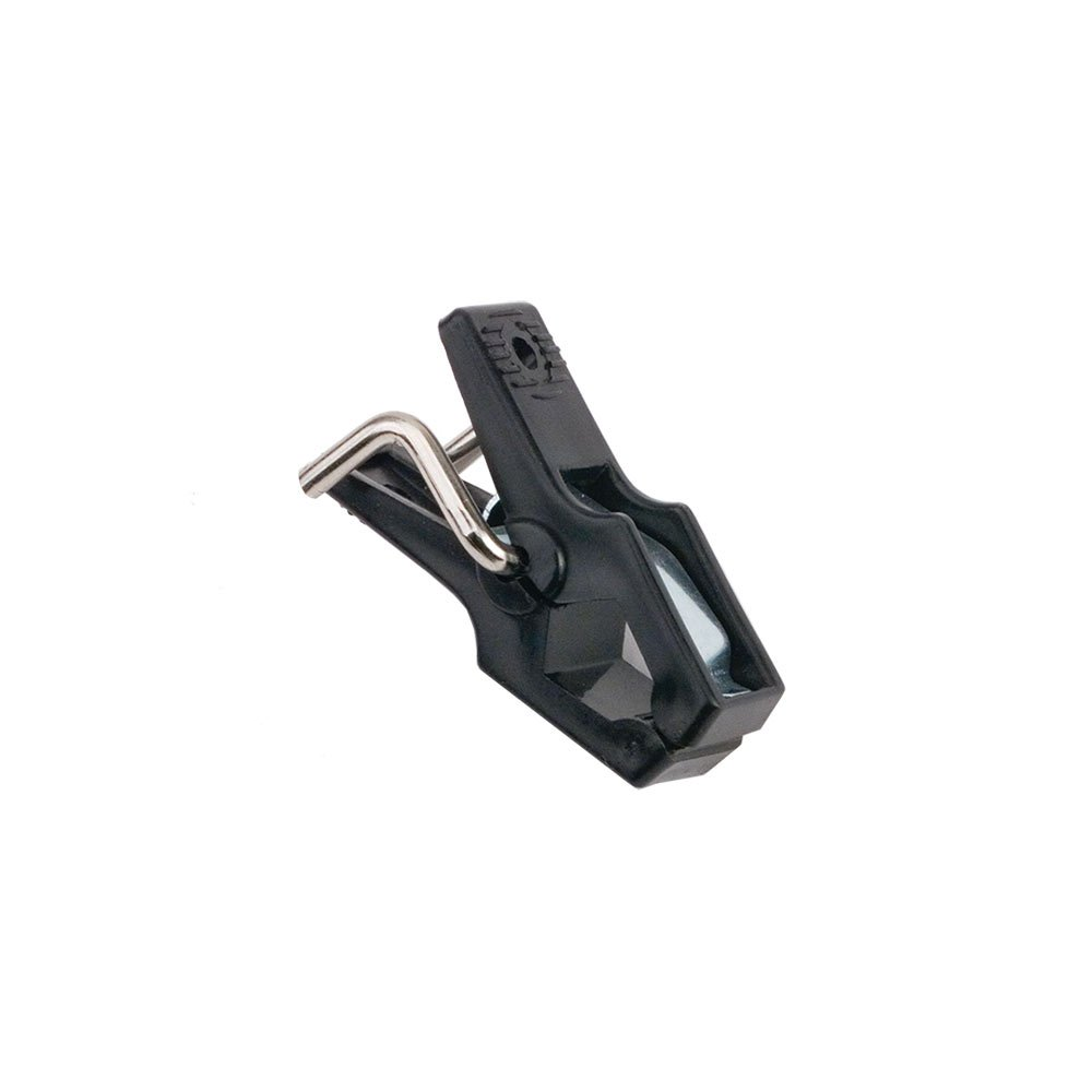 NAHANCO HG101 2'' Long Plastic Clip for Use with Slatwall. Black. (Pack of 100)