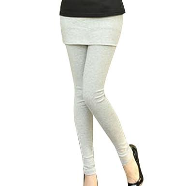 Decha Automne Collant Legging avec Jupe Courte Élastique Pantalon Casual  Pants Slim  Amazon.fr  Vêtements et accessoires 18bfa729a11