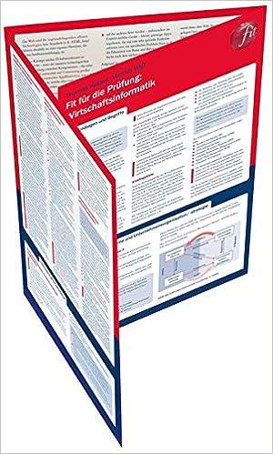 Fit für die Prüfung: Wirtschaftsinformatik: Lerntafel: Amazon.de ...