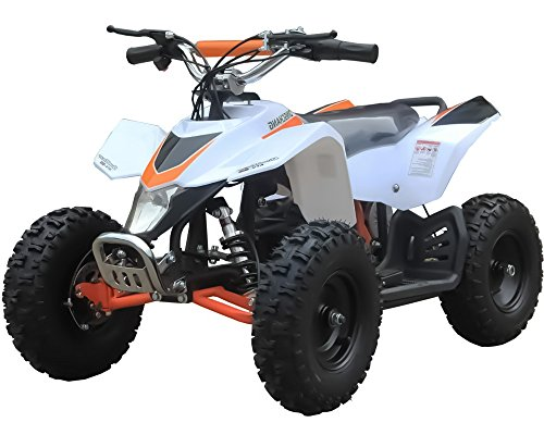 Sahara X 350W 24V Electric Ride-On ATV for Kids, White