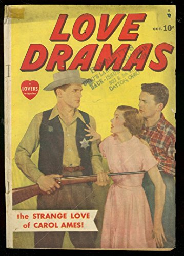 (LOVE DRAMAS #1 1949-PHOTO COVER-WESTERN-RARE TIMELY VG)