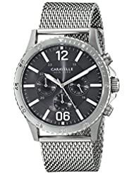 Caravelle New York Mens 43A129 Analog Display Analog Quartz White Watch