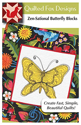 (Zen-Sational Butterfly Blocks Quilt Pattern: Inspired by Zentangle (Design Originals, Quilted Fox Designs) Free-Motion Stitches for Quilting Applique & Stitches with Coloring; Table Runner 18
