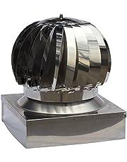 - Util.Fer - Caperuza eólica para chimeneas. Caperuza giratoria y con base cuadrada fabricada en acero inoxidable. Producto disponible en varias medidas