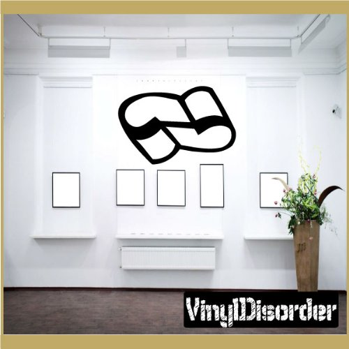 "Vinyl Disorder scrollsMC124 Scrolls Car Wall Decal, 36"", Bla"