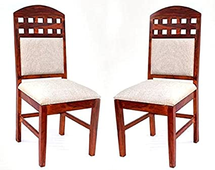 Modish Ultimate Design For Sheesham Wood Dining Chairs Brown Color Chair Pack Of 2