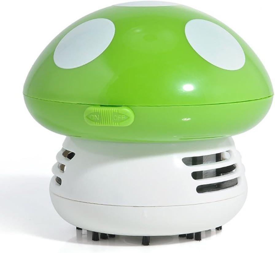 Barredora de mano linda Mini seta esquina escritorio de mesa aspiradora de polvo barrido(Verde): Amazon.es: Hogar