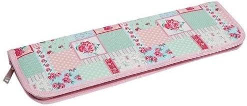 HobbyGift MR4700E/36 | Estuche para agujas de tejer | Rígida con Cremallera | Patchwork Diseño Floral | 13 x 40 x 4cm: Amazon.es: Hogar