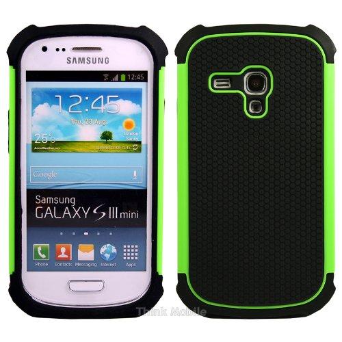 Samsung Galaxy S3 Mini i8190 Caso Elegante - Flora TPU Gel Case Sleeve Cover Para El Samsung Galaxy S3 Mini i8190 - thinkmobile verde