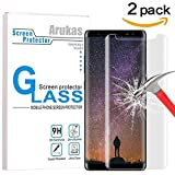 Galaxy Note 8 Screen Protector Glass, Arukas 3D Curved Edge Ultra Clear 9H Hardness Case Friendly (Easy Installation) Glass, Bubble-Free Anti-Scratch For Samsung Galaxy Note 8 (2 pack)