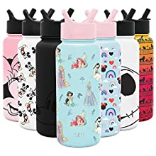 Simple Modern Disney Character Insulated Water Bottle Tumbler with Straw Lid Reusable Stainless Steel Wide Mouth Travel Cup, 32oz, Princesses Royal Beauty