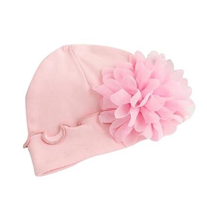 Gorra de bebé, ❤️Amlaiworld Sombrero Bebé Recién nacido bebé niñas niño pequeño flor sombrero gorro de algodón suave Sombrero de playa ...