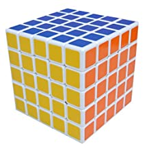 Dayan B007MQNRAU0811 ShengShou 5x5x5 6.5cm V III Speed Cube Puzzle White