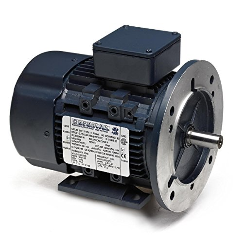 Marathon 90LT34FH6520 IEC Motor, 3 Phase, TEFC, D-Flange with Rigid Base, Ball Bearing, 2.2 kW, 3600/3000 RPM, 2 Speeds, 230/460 VAC, 90LD Frame ()