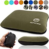 Inflatable Camping Travel Pillow Ultralight - Best Compact Backpacking Pillow - Portable Air Pillow for Backpack Camp Exped Travelling Hiking Survival Sleeping - Lightweight Inflating Blow Up Pillow
