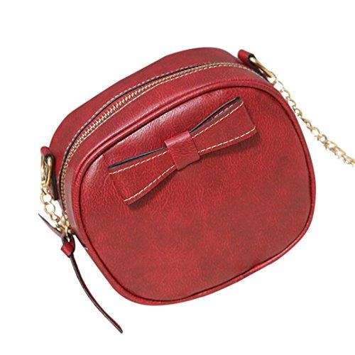 Bovake - Bolso mochila  de Piel para mujer Vino