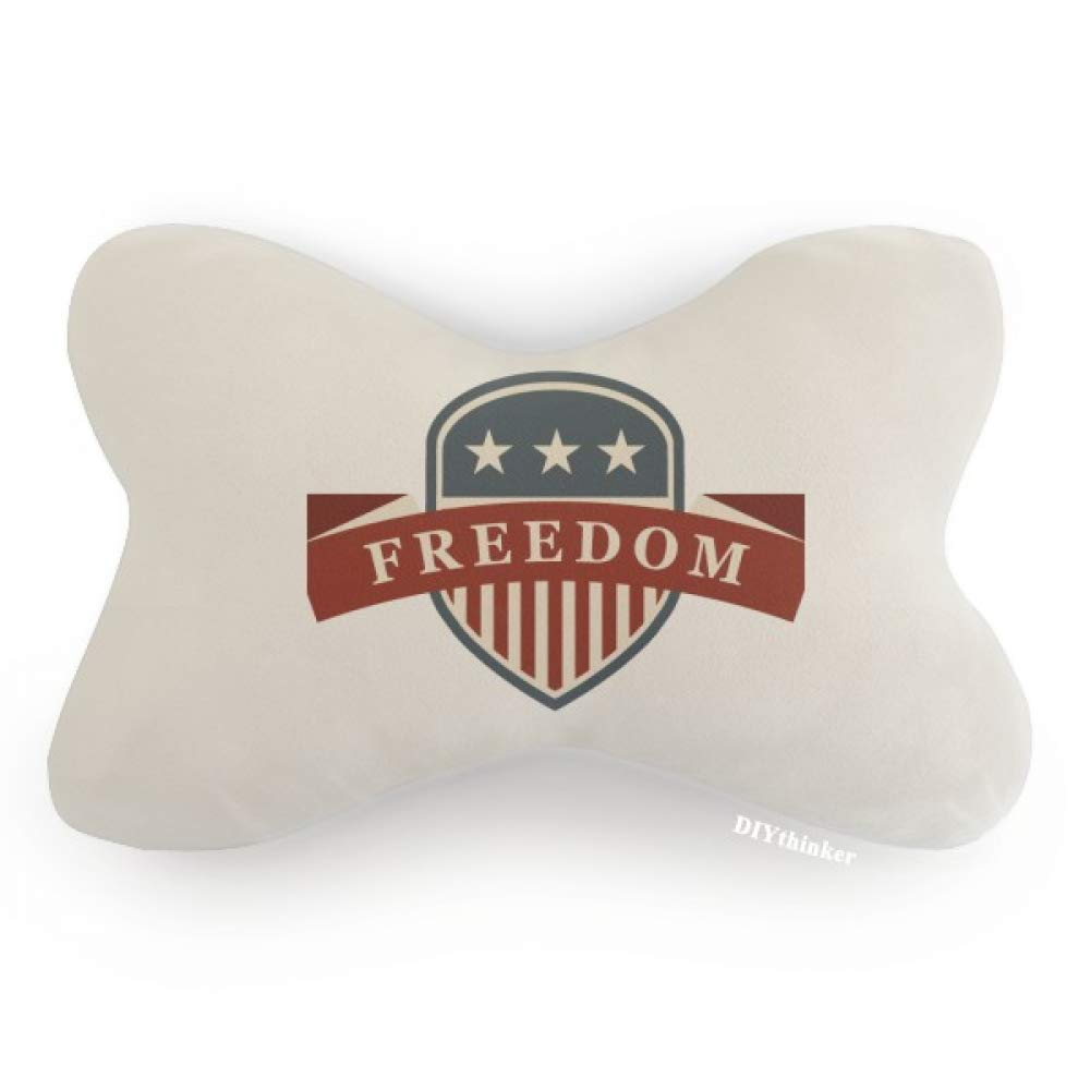 DIYthinker Stars and Stripes Shield America City Car Neck Pillow Headrest Support Cushion Pad