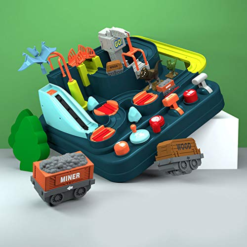 Volwco Toy Car Playset with 3 Small Fun Roller Coaster Tracks,Drivers Garage,Kids Toy Garage,New Concept Car Big Adventure Track Toy for Boys & Girls 1, 2, 3, 4 & 5 Year Olds