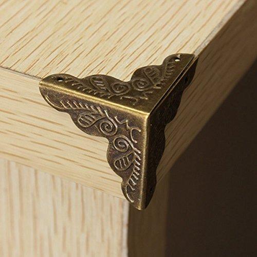 10 Pieces Antique Box Corner Wooden Case Corner Brackets ...
