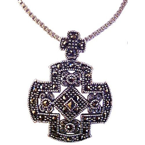 - Wholesale Christian Gifts Large Cross Necklace With Marcasites
