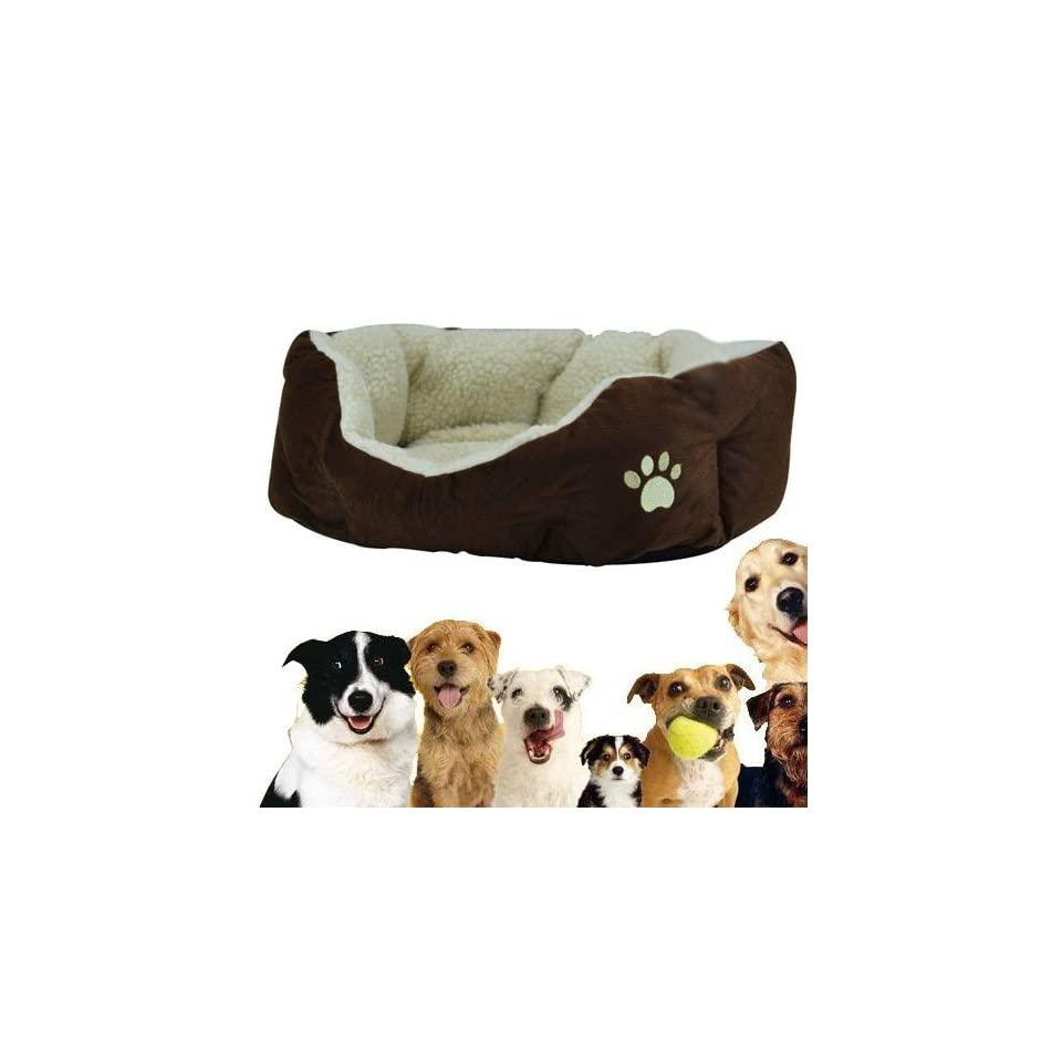 Ship from US Luxury Indoor Warm Round Soft Pet Dog Cat Puppy Bed Small Size
