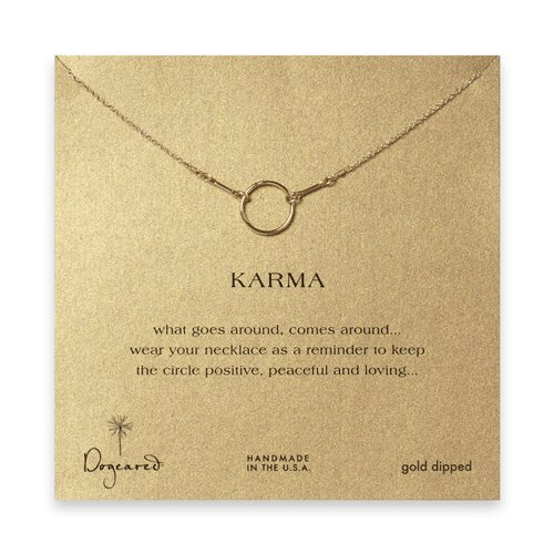 Dogeared Gold Necklace - Dogeared Karma Necklace, Gold Dipped - 16 Inches
