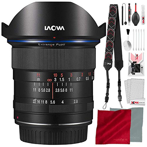 LAOWA Venus Optics 12mm f/2.8 Zero-D Lens for Sony E (Black) with Deluxe Cleaning Set Accessory ()