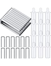 40 Pieces Plantation Shutter Repair Tool Set, Including 20 Spring Loaded Shutter Pins and 20 Tilt Rod Louvers Staples Replacement for Windows Tools Supplies