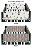 Sweet Jojo Designs 2-Piece Aqua and Gray Outdoor Adventure Teething Protector Cover Wrap Baby Crib Side Rail Guards