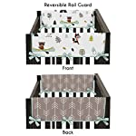Sweet-Jojo-Designs-2-Piece-Aqua-and-Gray-Outdoor-Adventure-Teething-Protector-Cover-Wrap-Baby-Crib-Side-Rail-Guards